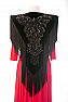Black Velvet Piano Players Shawl #2030 (10 days to ship)