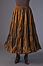 Boho Style Ruffled Copper Skirt