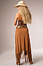 Sexy Long Long Fringe Tan Skirt