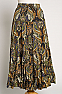 Western Multi Olive Green Sequined skirt (7 days to ship) #SK5002-17