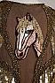 Sexy Beaded Horse Applique Shawl (10 days to ship) #SH1020-17