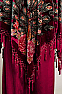Elegant Peacock Rayon Beaded Poncho PON001017 (10days to ship) Limited Edition