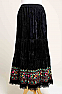 Sexy Velvet Embroidered Southwestern Style Skirt (7 days to ship) Limited Edition #SK5003-17