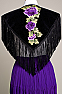 Purple Color 3D Flower Applique Western Shawl SHAP1003-17 (10 days to ship) (Limited Edition)