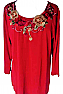Floral Embroidered Boho Top T-101