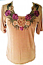 Short Sleeve Embroidered Top T-103