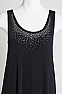 Sleeveless Long Scoop Neck Dress with Rhinestones (10 days to ship) #100510DJO