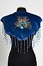 Suede Royal Blue Double Cape #DBC01