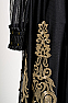 Romantic Black and Gold Embroidered Outfit