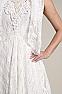 Elegant Western Wedding Wear Outfit #01118 Side Closeup