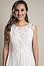 Elegant Western Wedding Wear Dress #D1118 Front Closeup 2