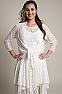 Western Wedding Wear Tie Front Lace Bolero Coverup 1 - Ann N Eve Exclusive Womens Western Wear