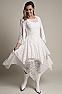Western Wedding Wear Tie Front Lace Bolero Coverup 9 - Ann N Eve Exclusive Womens Western Wear