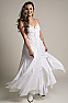 White Bohemian Western Wedding Dress in Cotton 3 - Ann N Eve Exclusive Womens Western Wear