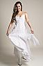 White Bohemian Western Wedding Dress in Cotton 4 - Ann N Eve Exclusive Womens Western Wear