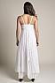 White Bohemian Western Wedding Dress in Cotton 10 - Ann N Eve Exclusive Womens Western Wear