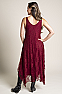 Burgundy Formal Western Wear Dress