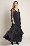 Elegant Long Beaded Formal Western Wear Beaded Skirt and Cape with Fringe