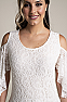 Sexy Cold Shoulder Off White Western Wedding Wear Dress