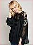 Formal Floral Lace Sheer Tunic Blouse Side 1