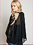 Formal Floral Lace Sheer Tunic Blouse Side 2