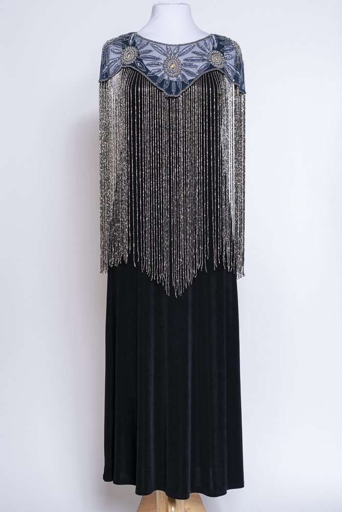 Beaded Cape with Long Beaded Fringe #101620 CPBD (10 days to ship)