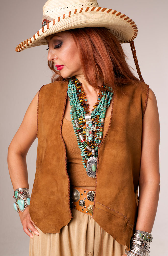 Leather vest from WesternWomenWear.com