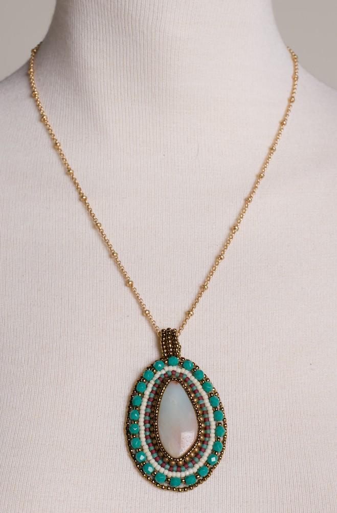 Turquoise Amazonite Necklace. #FR16-MSAM-PS-TL