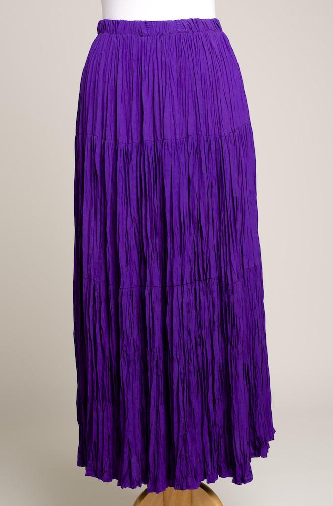 Elegant purple color Broomstick Western Skirt. #SK5006-17
