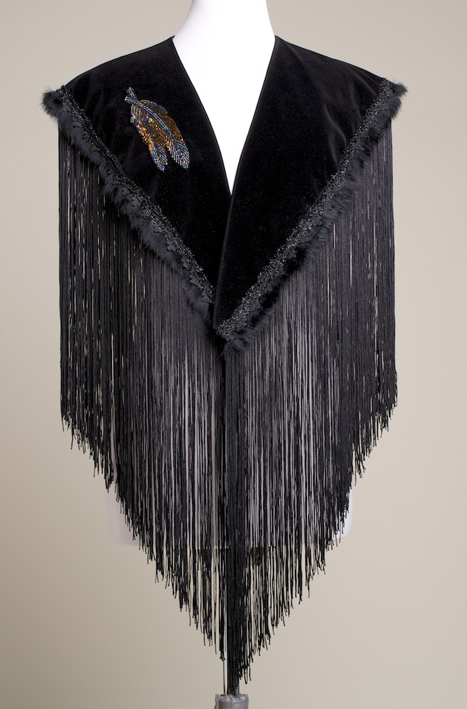 Steer Head Hands Beaded Applique Shawl. (10 days to ship). #SH1005-17 Limited Edition