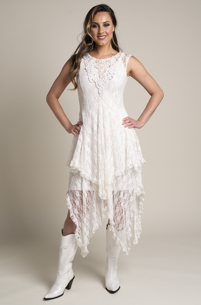 Western Wedding Dresses.Hand Embellished Western Wedding Dress 2 Weeks To Ship D01118