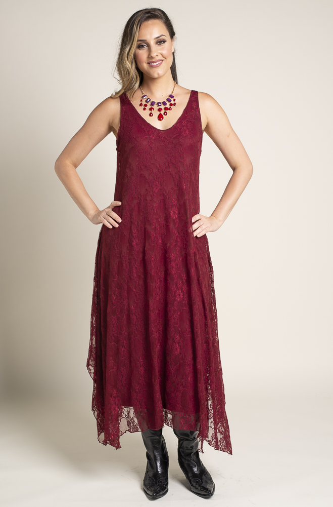 Burgundy Formal Western Wear Dress (2 weeks to Ship) DRBR 112818