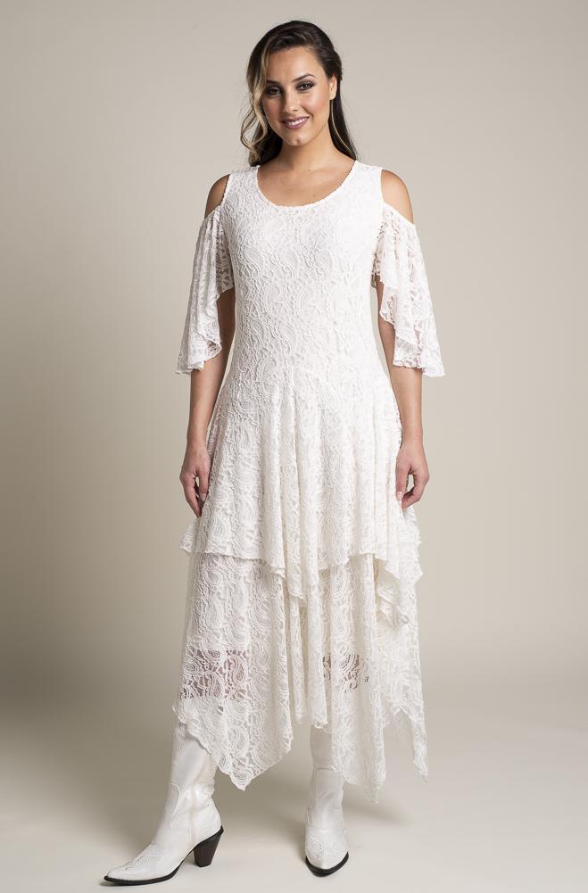 Western Wedding Dresses.Sexy Cold Shoulder Off White Western Wedding Dress 15 Days To Ship Drcs 112818