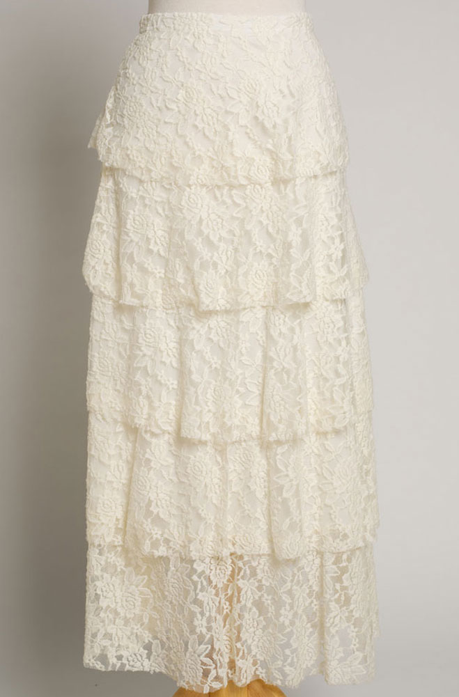 Layered Long Lace Skirt. (7 Days to Ship). #SK502016JST
