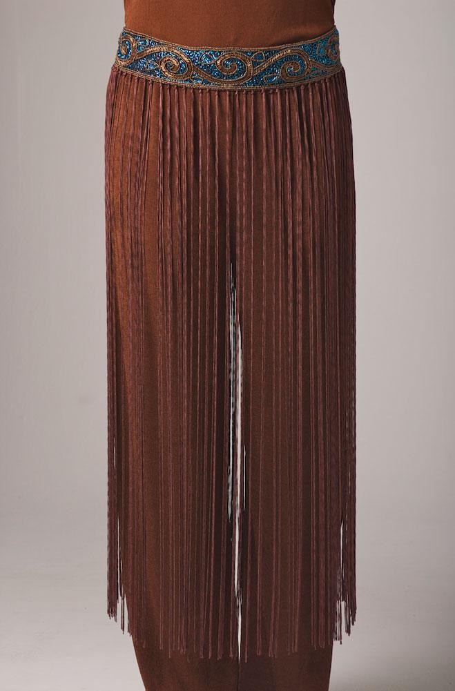 Beaded Belt with Long Fringe