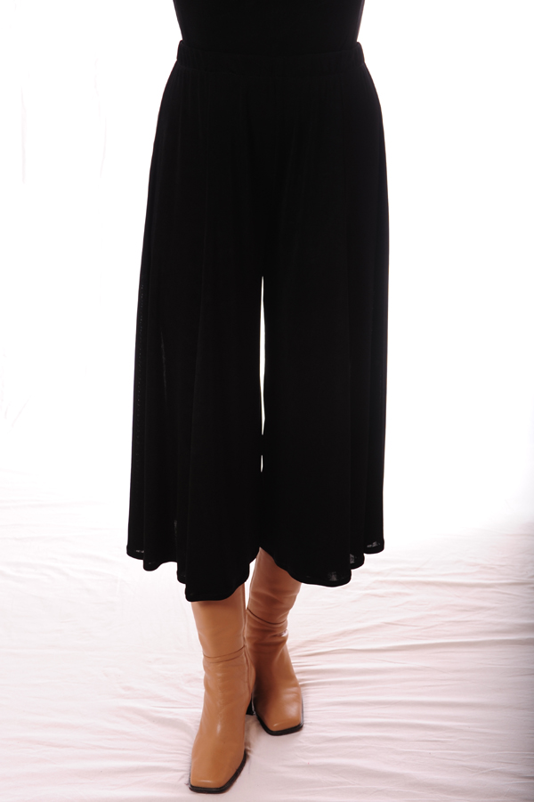Gaucho with less flare, for plus size