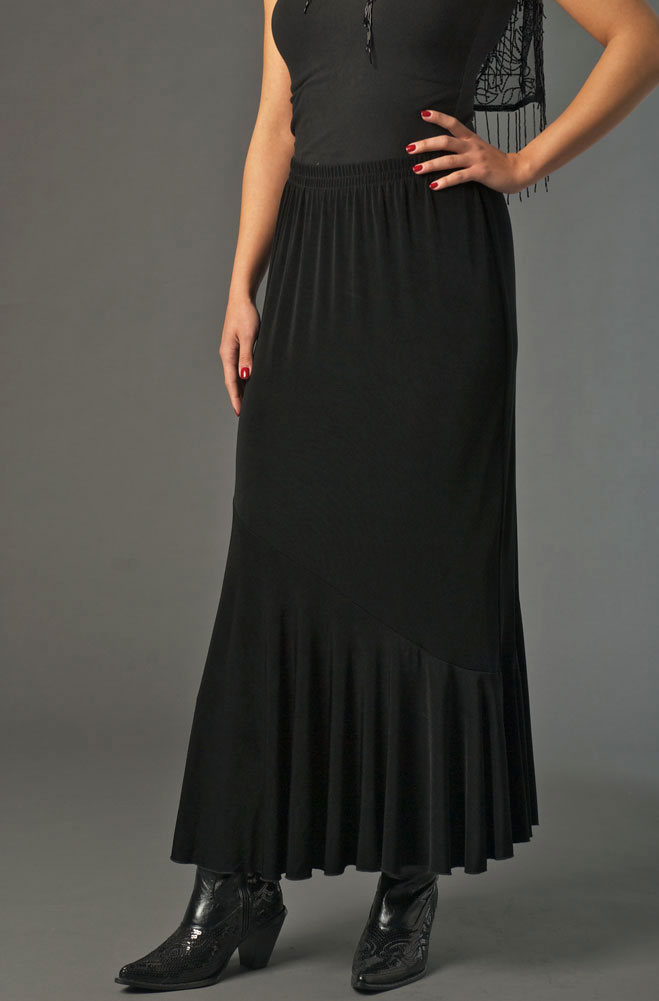 Black Sexy Flounce Formal Skirt (7 days to ship)