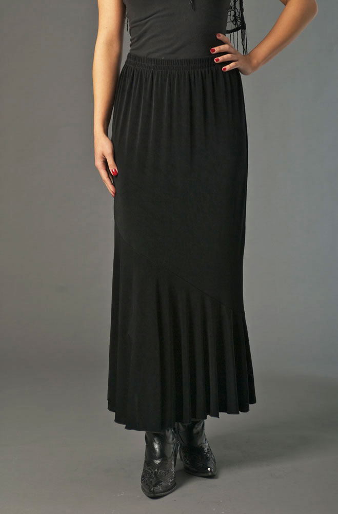 Black Sexy Flounce Formal Skirt. (7 days to ship). [Limited Edition]. #ATC531LSP