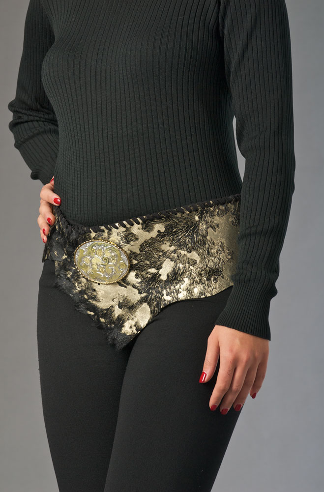 Black and Gold Wrap Belt (3 weeks to ship)