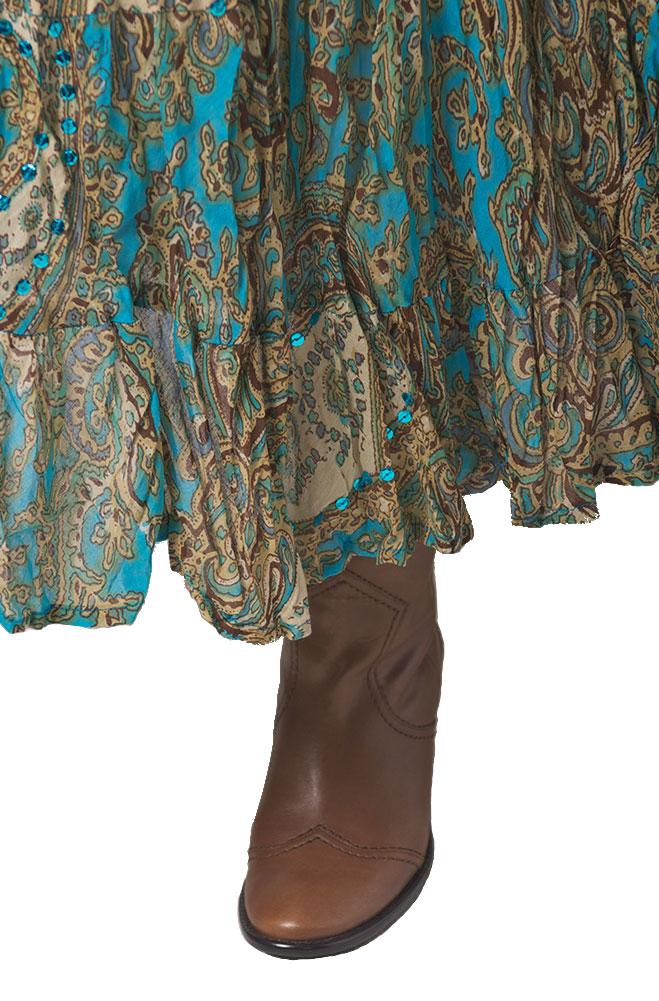 Broomstick Turquoise Multi Skirt