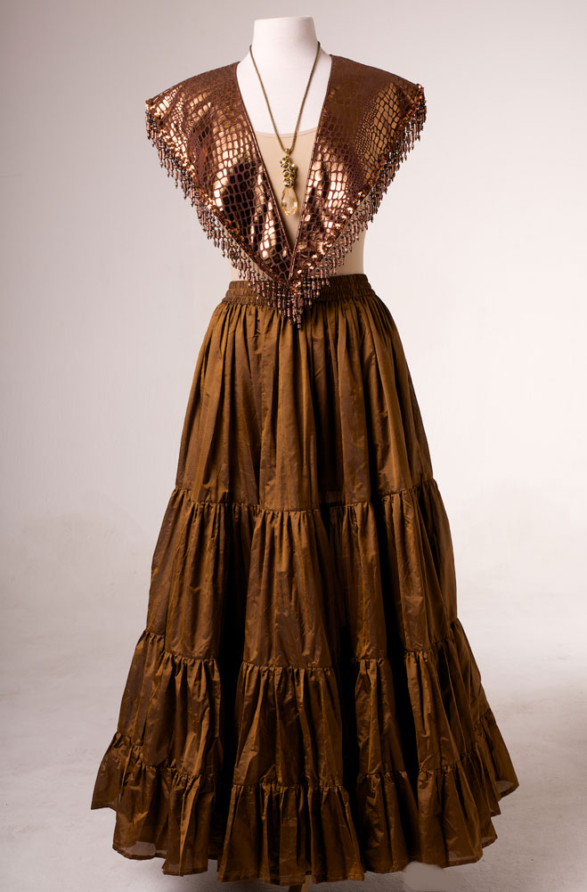 Copper Color Leather Look Shawl (10 days to ship)