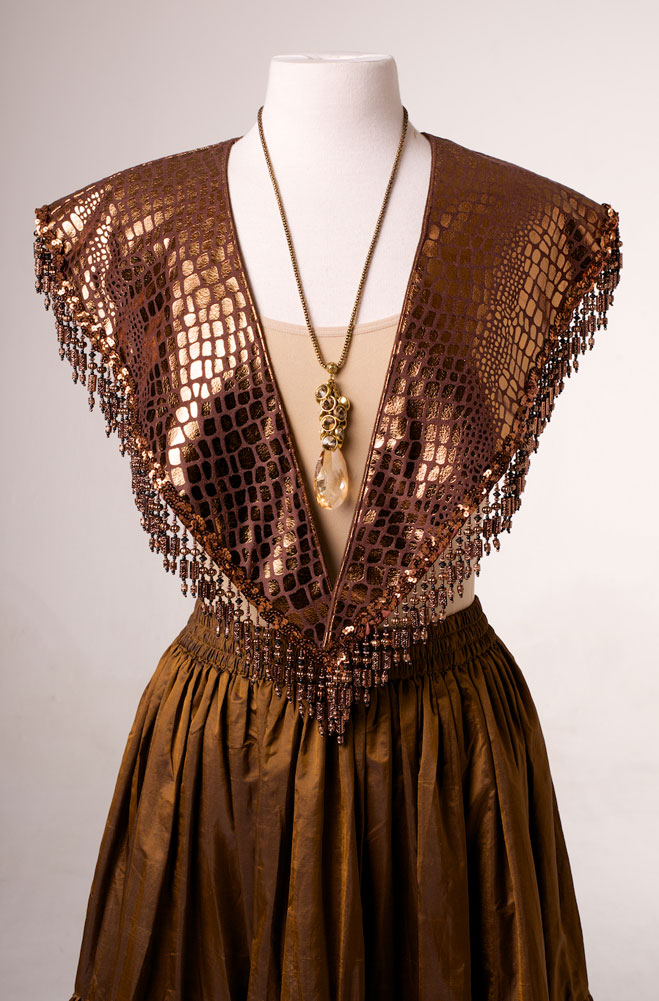 Copper Color Leather Look Shawl. (10 days to ship). #AE 2107