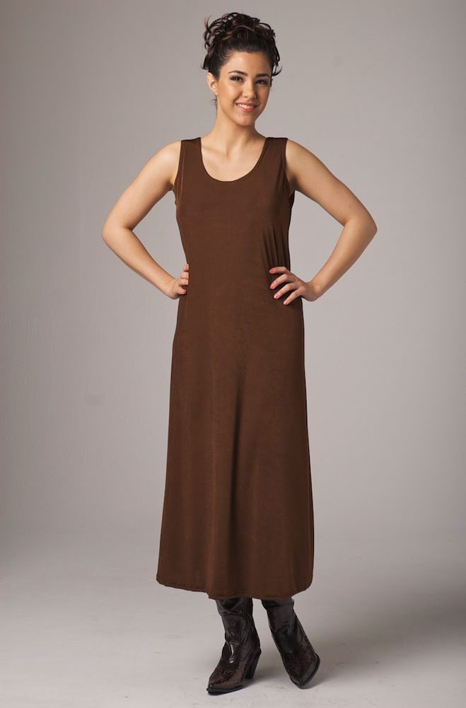 Copper Color Long Dress. #10013D