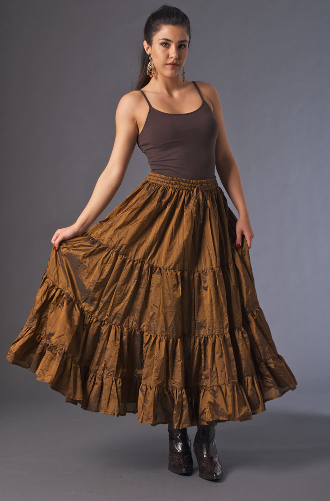 Copper Ruffled Skirt