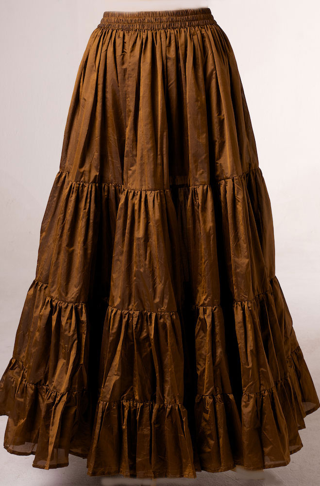 Copper Ruffled Skirt. [Limited Edition]. #AE5066 Shiba