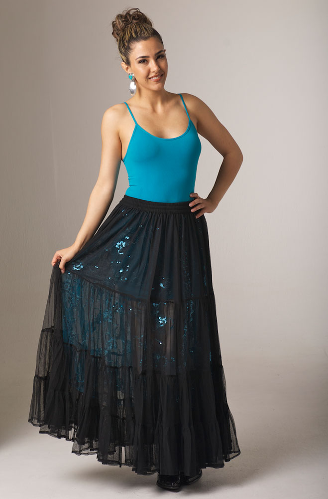 9bdd1e1749 Exquisite Formal Western Wear Long Black Skirt. (10 days to ship). #5110