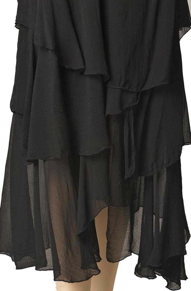 Formal Black Western Long Skirt