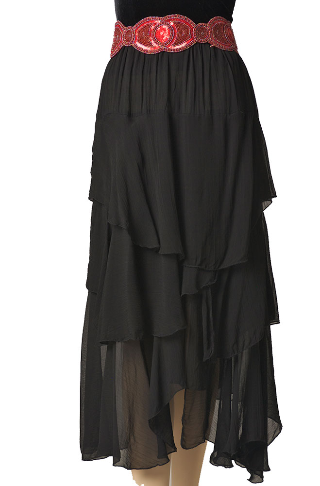 Formal Black Western Long Skirt. #6042