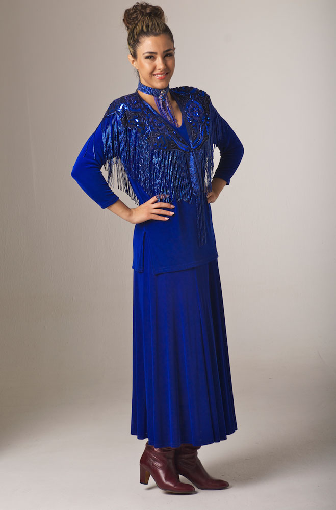 Formal Western Royal Blue Outfit - Ann