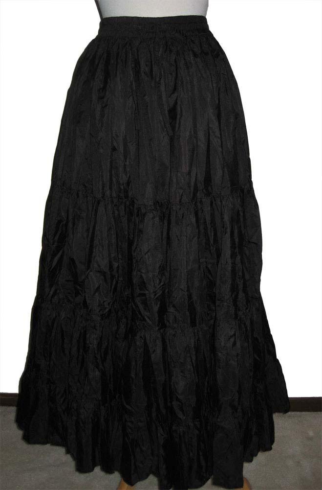 Formal long Black Ruffled Skirt. (3 days to ship). [Limited Edition]. #5050Shiba